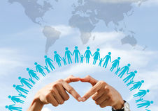 Love the earth. World Population Day love and save the earth stock photos