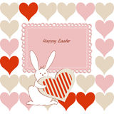 Love Easter card for children Royalty Free Stock Photos