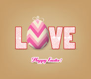 Love with easter eggs Royalty Free Stock Image