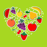 Love eat fruits concept Stock Photo