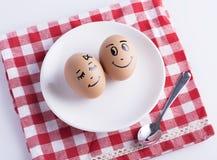 Love eggs couple Stock Photo