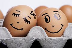 Love eggs couple Stock Photo