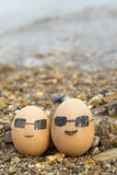 The love of eggs. Eggs husband and wife Stock Photos