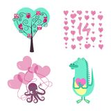 Love elements for Valentines day Stock Photography