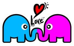 Love elephant Stock Photography