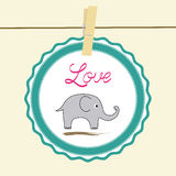 Love elephant card2 Royalty Free Stock Images