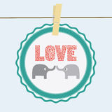 Love elephants card Stock Images