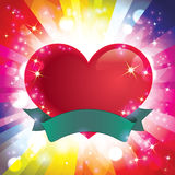 Love Emblem. Colorful vector love emblem design Stock Photo