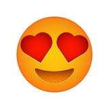 Love emoji face love emotion icon Royalty Free Stock Photo