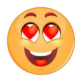 In love emoticon Stock Images