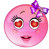 In love emoticon Royalty Free Stock Photography
