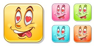In love Emoticons Collection Royalty Free Stock Images