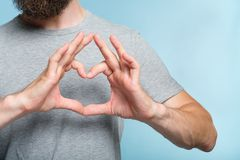 Love emotion expression heart shape hands gesture stock image