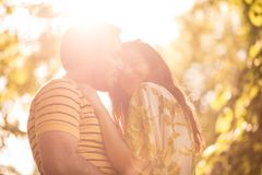 Love emotion at spring season. Beauty in nature Stock Photography