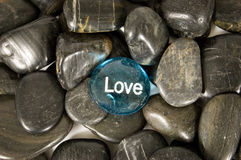Love Encouragement Stone Royalty Free Stock Photo