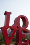 Love, English font, flowers, Verbena Royalty Free Stock Photography