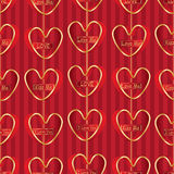 Love English vertical hang seamless pattern Royalty Free Stock Photography