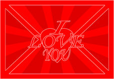 Love envelope Royalty Free Stock Images