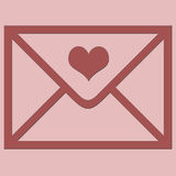Love envelope. Royalty Free Stock Photo