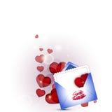 Love envelope. Love letter, vector art illustration festive envelope Stock Images