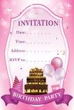 Birthday Party Invitation Royalty Free Stock Image