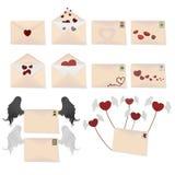 Love envelopes. Vector illustration envelopes love letters Royalty Free Stock Photo