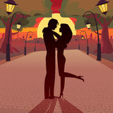 Love in the evening Royalty Free Stock Images