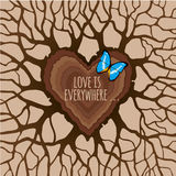 Love is everywhere. Vector heart Stock Image