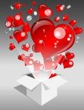 Love Explosion Stock Image