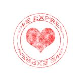 Love Express Rubber Stamp Royalty Free Stock Image