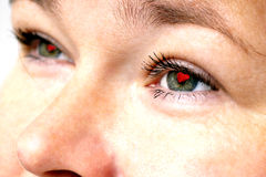Love in the eyes. Stock Photos
