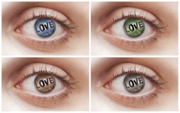 Love Eyes Stock Photography