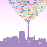 Love factory. Vector illustration of a love factory Stock Photography