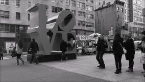 Love in New York City stock video