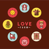 Love farm flat Royalty Free Stock Images