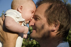 Love of father and baby Stock Photo