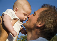 Love of father and baby Royalty Free Stock Photography