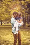 Love between father and daughter. stock photo