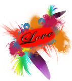 Love and feathers Royalty Free Stock Photo