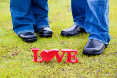 Love and Feet Royalty Free Stock Photo