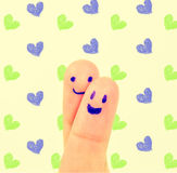 Love finger hug and Heart Royalty Free Stock Images