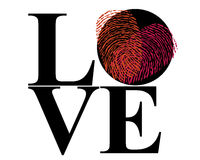 Love  fingerprint with heart symbol vector. Background Royalty Free Stock Photo