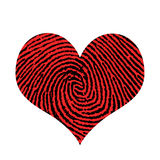 Love. Fingerprint in shape of heart Royalty Free Stock Photos