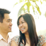 Love At First Sight. Asian couple Love At First Sight Stock Photography