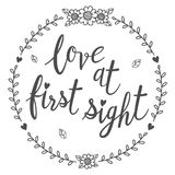 Love at First sight calligraphy isolated. Love at First sight calligraphy isolated qoute Royalty Free Stock Photography