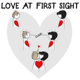 Love at first sight illustration stock illustration