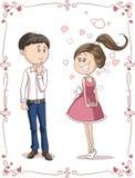 Love at First Sight Vector Cartoon Royalty Free Stock Image