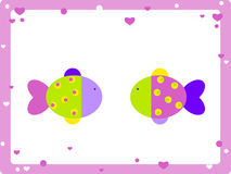 Love fish. Two colorful fish in love Stock Image