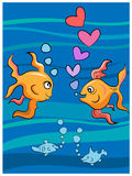 Love fishes Royalty Free Stock Photos
