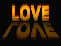 Love Flames fire background texture. 3D Stock Photos
